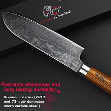 aliexpress com buy haoye 7 inch santoku knife japanese vg10