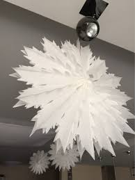 5pcs 40cm 50cm tissue paper snowflake fans decorations large
