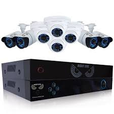 night owl 8 channel 8 indoor outdoor night vision bullet dome