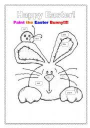 english teaching worksheets easter bunny