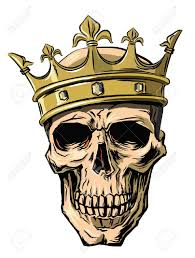 vector skull with crown on white background royalty free cliparts