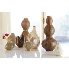 Classic Vases Krakatoa Ceramic White And Gold Vase Pottery Jonathan Adler