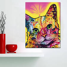 imagenes abstractas hd de animales hd imprimir resumen acuarela gato abstracto pintura al óleo sobre