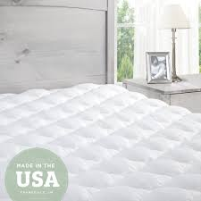 home design classic mattress pad amazon com pillowtop mattress pad with fitted skirt extra plush