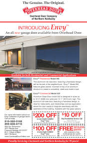 Overhead Door Coupon by Overhead Door Introduces Envy