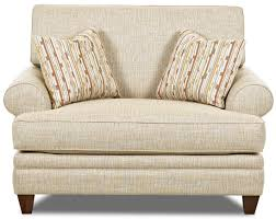 Oversized Accent Chair Transitional Oversized Chair With Accent Pillows By Klaussner