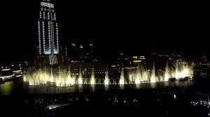 Armani Dubai by Dubai Fountains By Night View From The Armani Hotel Dubai Youtube