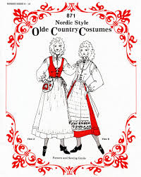 misses u0027 nordic style olde country costumes jumper blouse apron