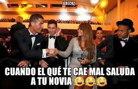 Memes De Cristiano Ronaldo - cristiano ronaldo saluda a la novia de messi e internet no lo