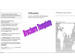 brochure rubric template country report pbl unit