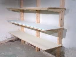 Wood Shelf Building Plans by Garage Shelving Plans Home Decorations