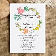 bohemian wedding invitations bohemian floral wedding invitations ewi302 as low as 0 94