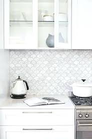 Backsplash Ideas For White Kitchens White Tile Backsplash White Kitchen Shaker Cabinets With Grey