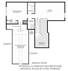Attic Floor Plans by Regency At White Oak Creek The Deerfield Home Design