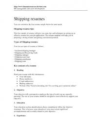 cover letter shipping and receiving sample resume free sample