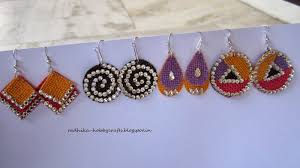 jute earrings hobby crafts quilled jhumkas and jute earrings