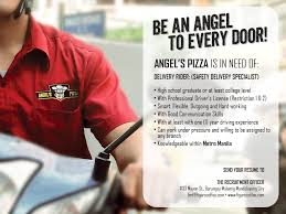Pizza Delivery Resume Delivery Driver Angel U0027s Pizza