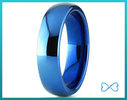 mens blue wedding bands mens tungsten ring blue black men tungsten rings blue wedding