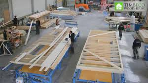 prefab timber frame element closed panel manufacturing youtube