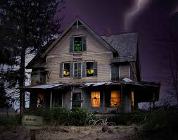 halloween hd background scary house backgrounds wallpaper cave