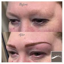 the ombré eyebrows the colour is lightest at the thinnest part of
