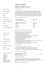 Sample Resume For Office Work by
