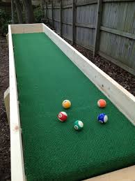 outdoor carpet ball table also called gutter ball youth