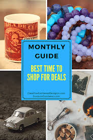 monthly guide best time to shop for deals