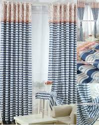 Blue And Striped Curtains Navy Striped Curtains Icedteafairy Club