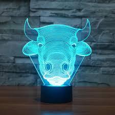 Children Bedroom Lights 3d Led Light Bull Shapes Decorative Lights Children Bedroom