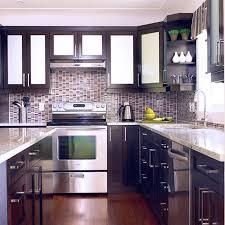 Cheap Black Kitchen Cabinets Cheaper Dark Cabinet Kitchen Ideas Shining Home Design
