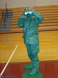 Green Army Man Halloween Costume Plastic Green Army Man Costume Photo 2 7
