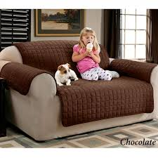 contemporary living room with faux suede pet furniture covers
