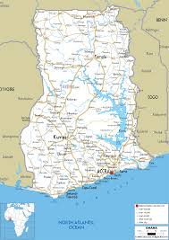 road map of ghana ezilon maps ghana pinterest ghana and
