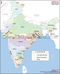 world rivers map shapefile river basins in india