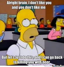 Test Taking Meme - homer taking a test by jamil meme center