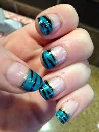 libbylovesbeauty teal zebra nails