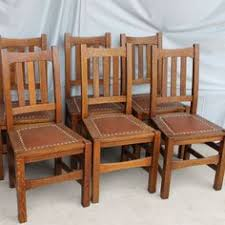 Mission Oak Dining Chairs Gendron Antiques And Reproductions U003e New Single Press Pressed Back