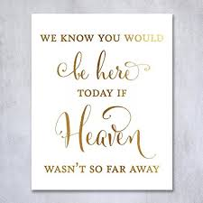 wedding memorial sign wedding memorial gold foil print small poster