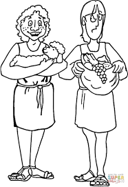 cain abel coloring pages kids coloring