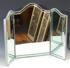 Vanity Mirror Tri Fold Vintage Hollywood Regency Tri Fold Vanity Mirror At 1stdibs