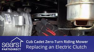 how to replace a cub cadet zero turn riding mower electric clutch