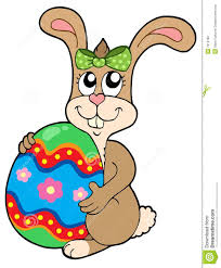 big easter bunny bunny holding big easter egg stock photos image 7913183