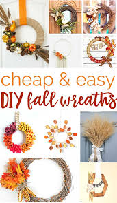 cheap easy diy fall wreaths you can make at home