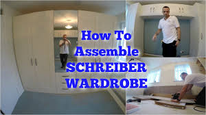 Flat Pack Fitted Bedroom Furniture Schreiber Wardrobe Assembly Youtube
