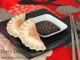 peanut butter potstickers party pinching