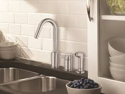 kitchen faucets danze danze d409030ss amalfi single handle kitchen faucet with side