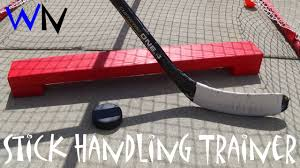 how to make a hockey stick handling trainer youtube
