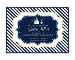 Nautical Bridal Shower Invitations Nautical Baby Shower Invitations For Girls Free Invitations Ideas