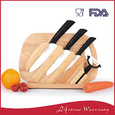 chinese best unique classic wood handle kitchen 6 piece ceramic